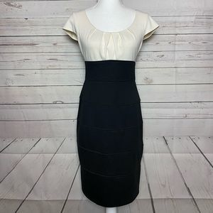 London Times Dress Black & White Size 4